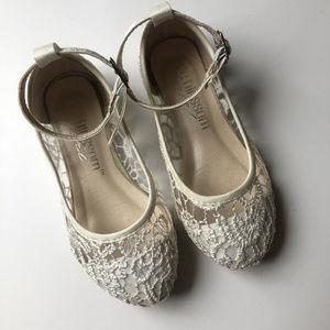 Davids Bridal Flower Girl Lace Ballet Flats